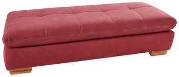 HOCKER Mikrofaser Bordeaux  - Bordeaux/Eichefarben, Design, Textil (156/74cm) - Xora