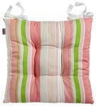 STUHLKISSEN Grün, Rosa, Weiß 43/43 cm - Rosa/Weiß, KONVENTIONELL, Textil (43/43cm) - Esposa
