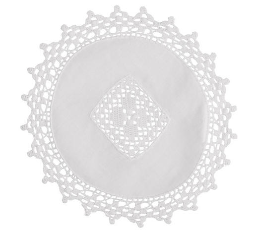 PLATZDECKCHEN Textil - Weiß, KONVENTIONELL, Textil (35cm)