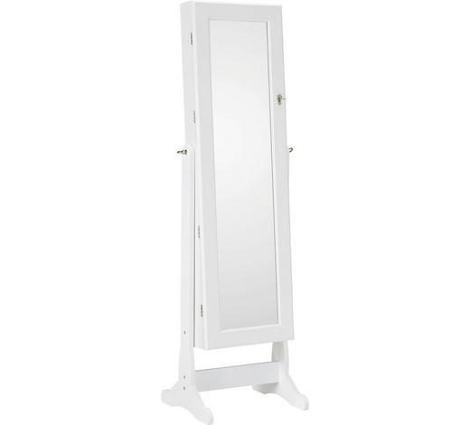 ORMARIĆ ZA NAKIT - bijela, Konvencionalno, staklo/drvni materijal (41/146/37cm) - Xora