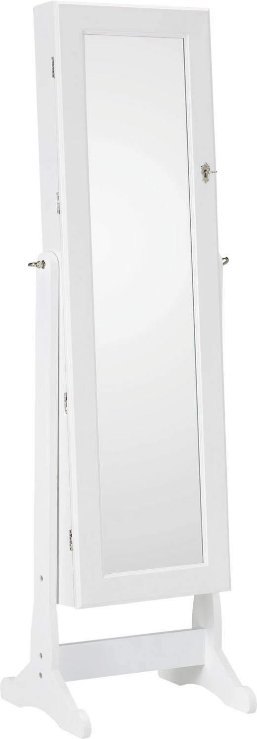 SCHMUCKSCHRANK - Weiß, KONVENTIONELL, Glas/Holzwerkstoff (41/146/37cm) - Xora