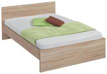 BETT in Sonoma Eiche  - Sonoma Eiche, Design, Holzwerkstoff (140/200cm) - Carryhome