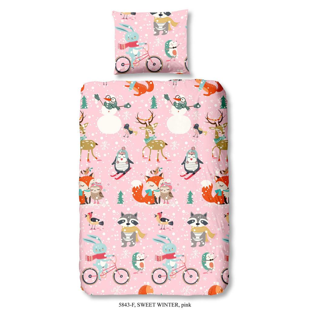 Kinderbettwäsche in Rosa