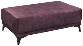 HOCKER in Textil Aubergine  - Silberfarben/Aubergine, Trend, Kunststoff/Textil (126/44/75cm) - Carryhome