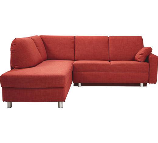 WOHNLANDSCHAFT in Textil Orange - Alufarben/Orange, KONVENTIONELL, Textil/Metall (208/227cm) - Sedda