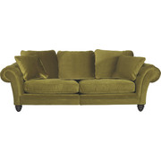 MEGA POHOVKA, zelená, textil,  - tmavě hnědá/zelená, Design, dřevo/textil (273/85/110cm) - Ambia Home