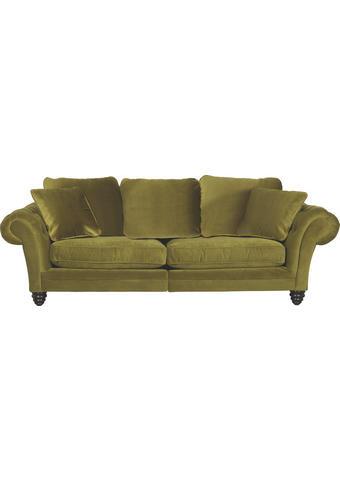 MEGA POHOVKA, textil, zelená - tmavě hnědá/zelená, Design, dřevo/textil (273/85/110cm) - Ambia Home