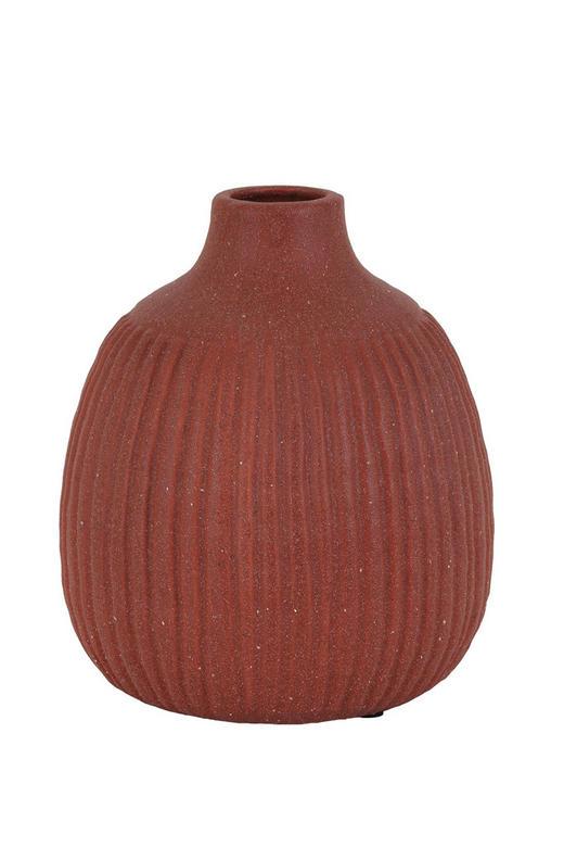 DEKOVASE - Rot/Braun, LIFESTYLE, Keramik (17,5/21,5cm)