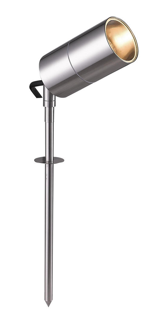 AUßENLEUCHTE - Edelstahlfarben, Design, Metall (6/32cm)