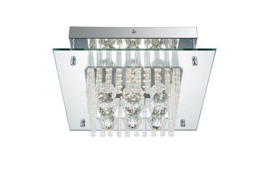 LED-DECKENLEUCHTE - Chromfarben, Design, Glas/Metall (30/30/12,5cm)