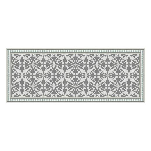 LÄUFER  In-/ Outdoor 70/180 cm  Grau, Grün, Weiß - Weiß/Grau, Kunststoff (70/180cm)