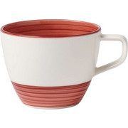KAFFEETASSE - Rot/Weiß, Keramik (0,250l) - Villeroy & Boch