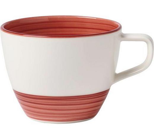 KAFFEETASSE - Rot/Weiß, Trend, Keramik (0,250l) - Villeroy & Boch