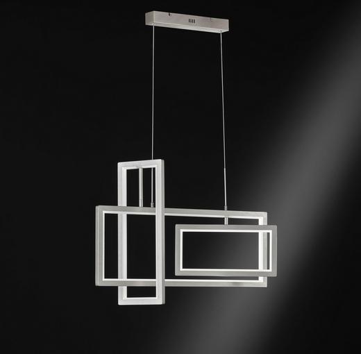 LED-HÄNGELEUCHTE - Nickelfarben, Design, Metall (80/150/40cm)