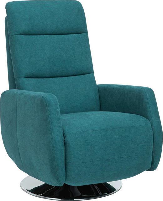 RELAXSESSEL Fußteilverstellung, Kopfteilverstellung, Relaxfunktion - Chromfarben/Petrol, Design, Textil/Metall (68/106/88cm) - Beldomo Style