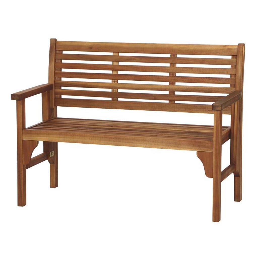 2-Sitzer-Bank aus Akazienholz