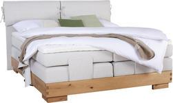 BOXSPRINGBETT 180 cm   x 200 cm   in Holz, Textil Beige, Eichefarben - Eichefarben/Beige, Natur, Holz/Textil (180/200cm) - Valnatura