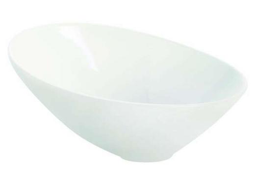 SCHALE Keramik Steinzeug - Weiß, Basics, Keramik (32,5cm) - ASA