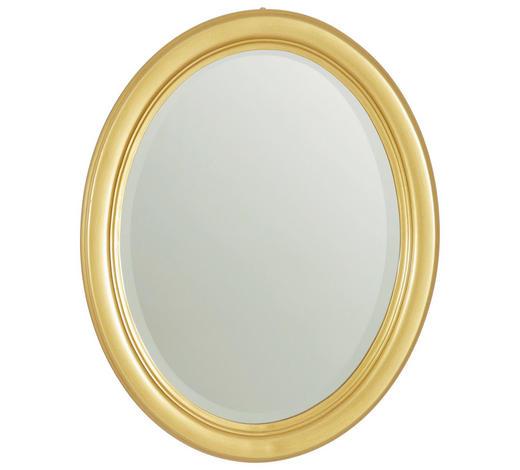 ZRCADLO, jedle, oválné - barvy zlata, Lifestyle, dřevo/sklo (36/46/3cm) - Xora
