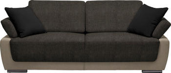 SCHLAFSOFA in Textil Braun, Schwarz, Beige  - Chromfarben/Beige, Design, Holz/Textil (214/83/95cm) - Venda