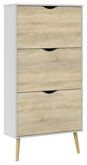 SKOSKÅP - vit/ekfärgad, Design, trä/träbaserade material (70,2/138,8/23,9cm) - Hom`in