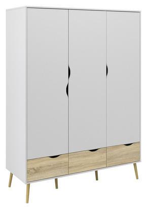 GARDEROB - vit/ekfärgad, Design, träbaserade material (147,2 200,1 58,1cm) - Hom`in