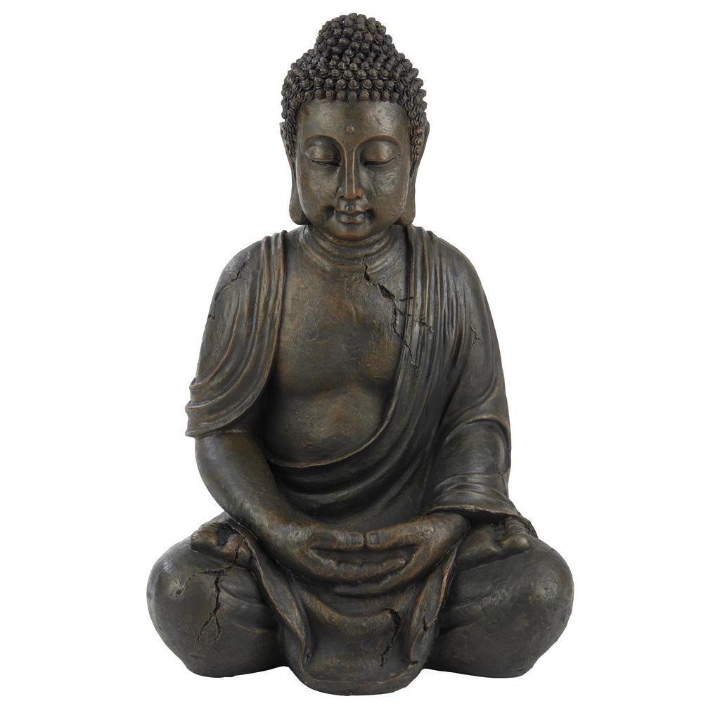 Image of XXXLutz Buddha 34/45 cm , 2006613 (2414400) , Braun , Kunststoff , Buddha , 34x45 cm , 0048852531
