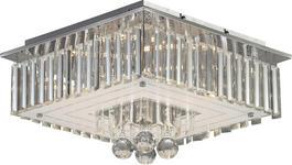 LED-DECKENLEUCHTE - Chromfarben, Design, Glas/Metall (40/40/23cm) - Novel