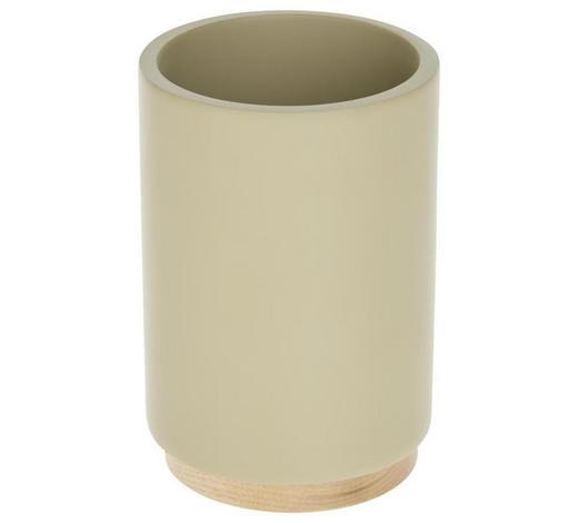 KELÍMEK, hnědá, béžová - hnědá/béžová, Basics, dřevo/umělá hmota (6,9/10,2/6,9cm) - Sadena