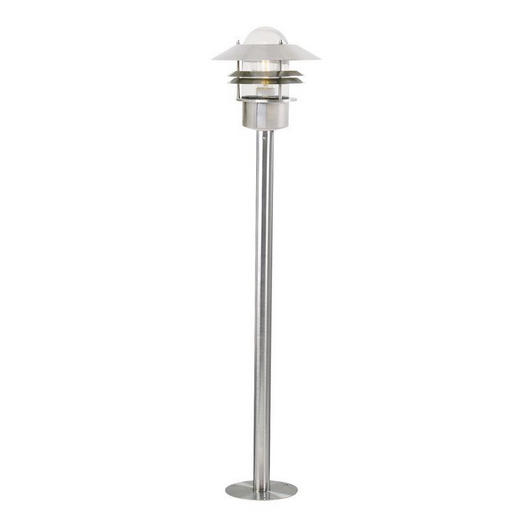 AUßENLEUCHTE Edelstahlfarben - Edelstahlfarben, Design, Glas/Metall (21/92cm)