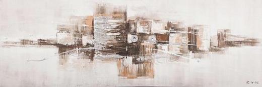 Abstraktes ORIGINALBILD - Multicolor, Basics, Holz/Textil (60/180/3,80cm) - EUROGRAPHICS