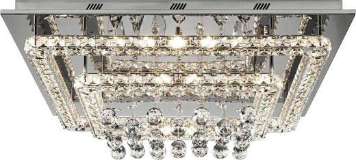 LED-DECKENLEUCHTE - Chromfarben, Design, Glas/Metall (55/55/20cm) - Glandor