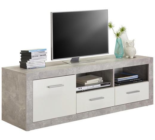 LOWBOARD 147/49/45 cm  - Silberfarben/Alufarben, Design, Holzwerkstoff/Kunststoff (147/49/45cm) - Carryhome