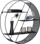 WANDREGAL 60/60/15 cm  - Schwarz, Design, Metall (60/60/15cm) - Carryhome