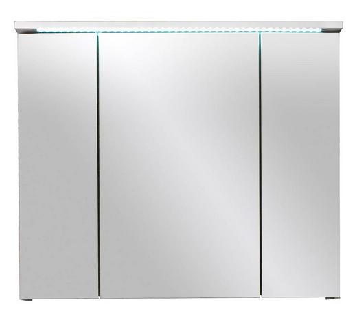 SPIEGELSCHRANK 80/68/23 cm  - Weiß, Design, Glas/Holzwerkstoff (80/68/23cm)