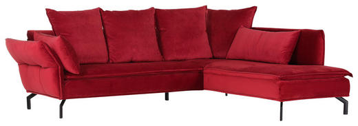 SEDACÍ SOUPRAVA, červená, textil - černá/červená, Trend, kov/textil (262/213cm) - Landscape