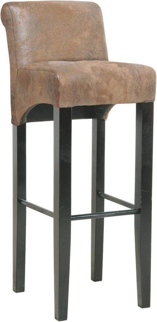 BARHOCKER Buche Braun - Braun, LIFESTYLE, Holz/Textil (37/92/44cm) - Kare-Design