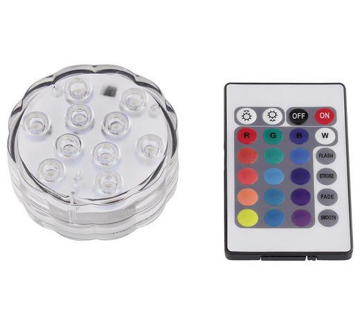 LED-DEKOLEUCHTE - Transparent, Basics, Kunststoff (7/3cm)