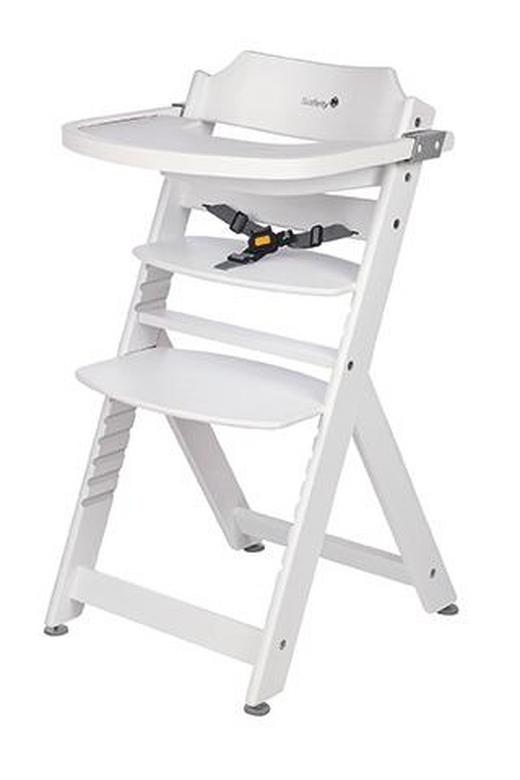 Hochstuhl Timba Buche White - Weiß, Basics, Holz (54,3/50/92cm) - Safety 1st