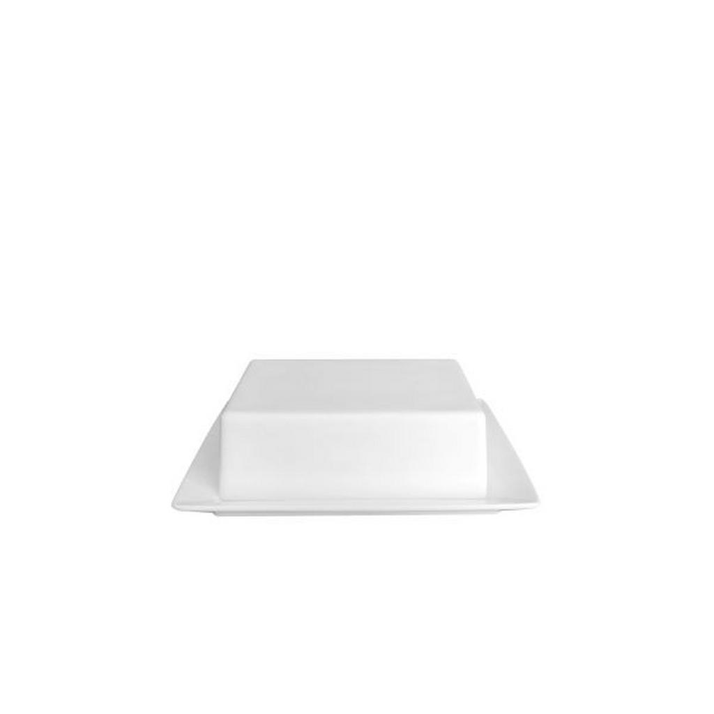 Image of Novel Butterdose keramik , Butter Dish , weiss , 16x13 cm , glänzend , 0071360128