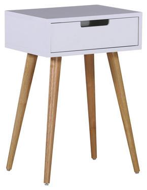 AVLASTNINGSBORD - vit/naturfärgad, Design, trä/träbaserade material (40/60/30cm) - Carryhome