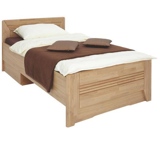 BETT Wildeiche massiv 120/200 cm - Eichefarben, KONVENTIONELL, Holz/Holzwerkstoff (120/200cm) - Venda