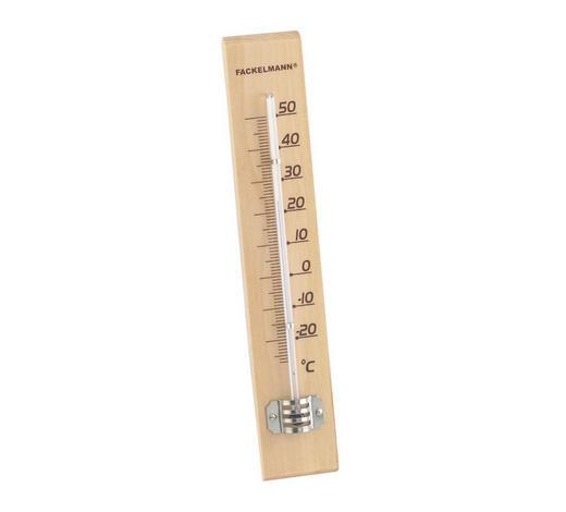 TERMOMETAR - smeđa, Konvencionalno, staklo/drvo (22cm)