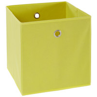 FALTBOX Metall, Textil, Karton Gelb, Silberfarben  - Gelb/Silberfarben, Design, Karton/Textil (32/32/32cm) - Carryhome