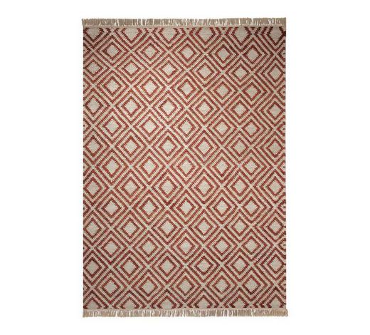 HANDWEBTEPPICH  60/110 cm  Rot, Sandfarben   - Sandfarben/Rot, KONVENTIONELL, Textil (60/110cm) - Esprit