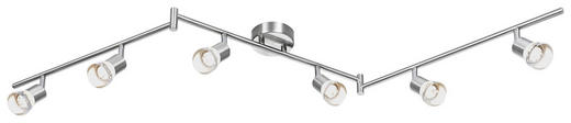 STRAHLER - Nickelfarben, Design, Kunststoff/Metall (150/10/10cm) - NOVEL