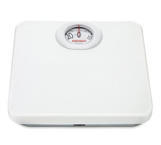 PERSONENWAAGE analog  - Weiß, Basics, Kunststoff/Metall (29.3/28.3/5.8cm) - Soehnle