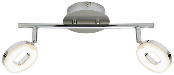 LED REFLEKTOR - Boje hroma/Boja nikla, Dizajnerski, Plastika/Metal (30cm) - Novel