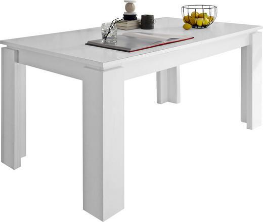 ESSTISCH rechteckig Weiß - Weiß, Basics, Holzwerkstoff (160(200)/90/77cm) - Carryhome
