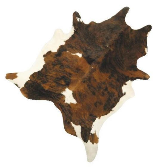 KUHFELL - Schwarz/Braun, Natur, Leder/Textil (2-4,5qm) - Linea Natura